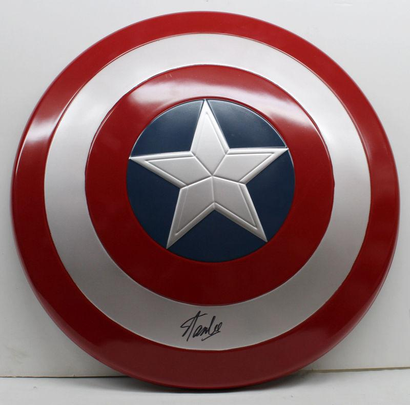 Stan Lee Signed Autographed Captain America Shield Marvel Avengers Psa/dna