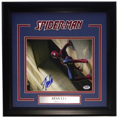 Stan Lee Marvel Comics Signed Framed 8x10 Spiderman Photo PSA 6A29384
