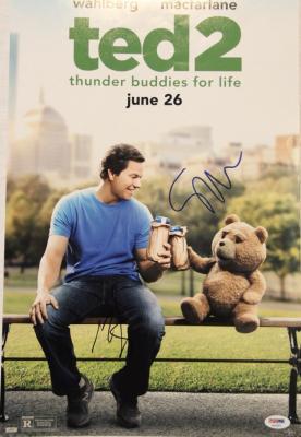 "MARK WAHLBERG & SETH MACFARLANE Signed ""TED 2"" 12x18 Photo Poster PSA/DNA"