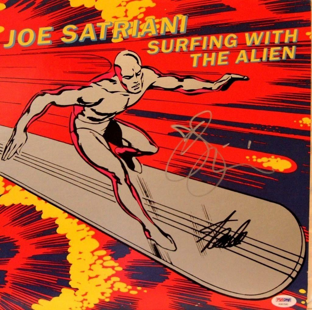 """STAN LEE & JOE SATRIANI Signed """"Surfing With The Alien"""" Album PSA/DNA #AB63580"""