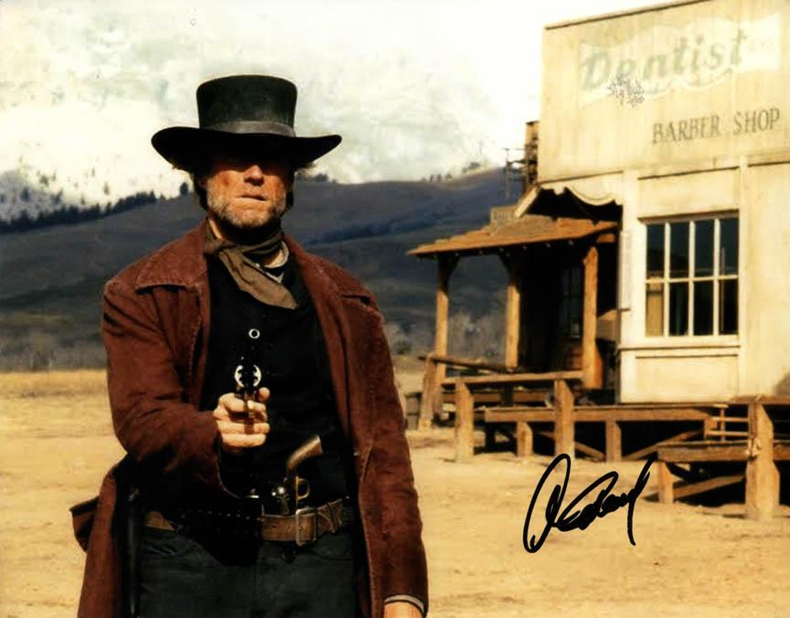 High Noon Clint Eastwood Autographed 11x14 Photo UACC RD COA AFTAL