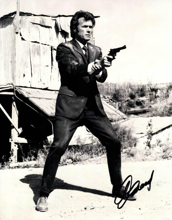 Clint Eastwood Autographed 11x14 Dirty Harry Photo UACC RD COA AFTAL