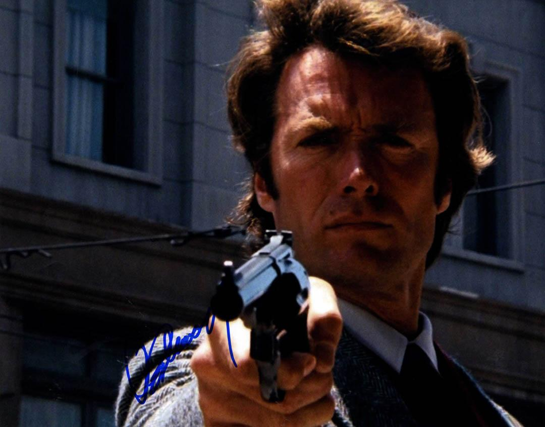 Clint Eastwood Signed 11x14 Dirty Harry Poster Photo W/Vid Proof UACC RD COA