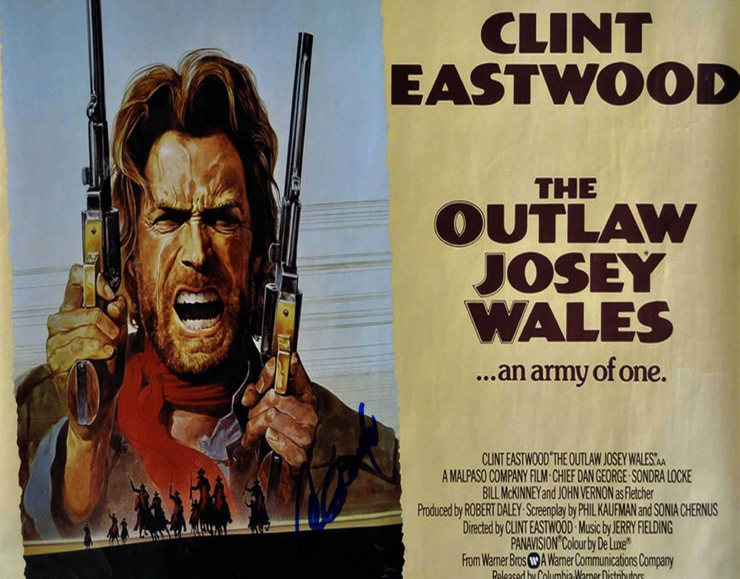 Clint Eastwood Autographed 11x14 Josey Wales Poster Photo W/Vid Proof UACC RD