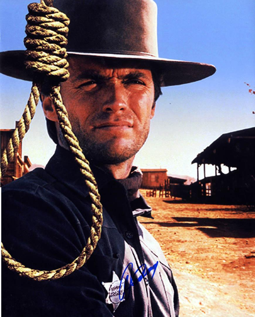 Clint Eastwood Autographed Sheriff 16X20 Poster Photo UACC RD AFTAL COA