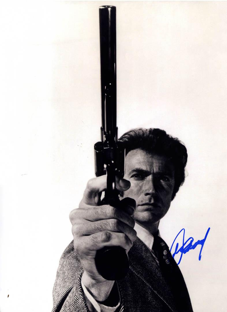 Clint Eastwood Signed Dirty Harry Revolver 16X20 Poster Photo UACC RD AFTAL COA