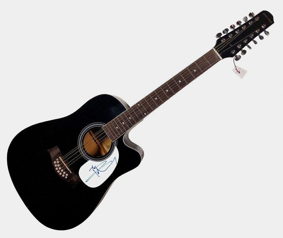 The Who Pete Townshend Autographed Signed 12 String Acoustic Guitar AFTAL UACC R