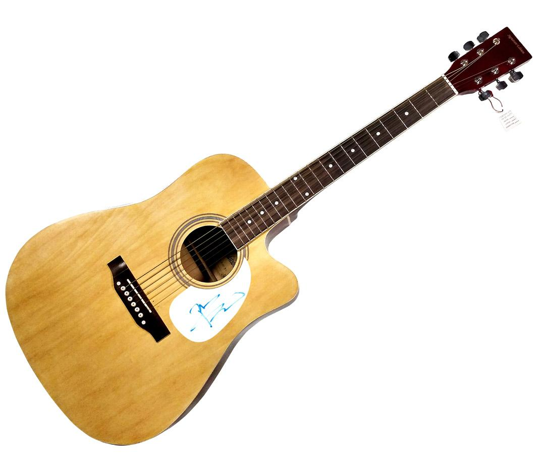 The Who Pete Townshend Autographed Signed Acoustic Guitar AFTAL UACC RD COA