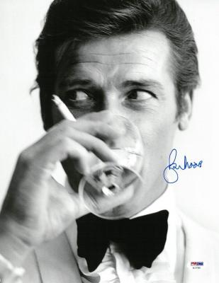 Roger Moore Signed Authentic Autographed 11x14 BW Photo PSA/DNA #AC17381