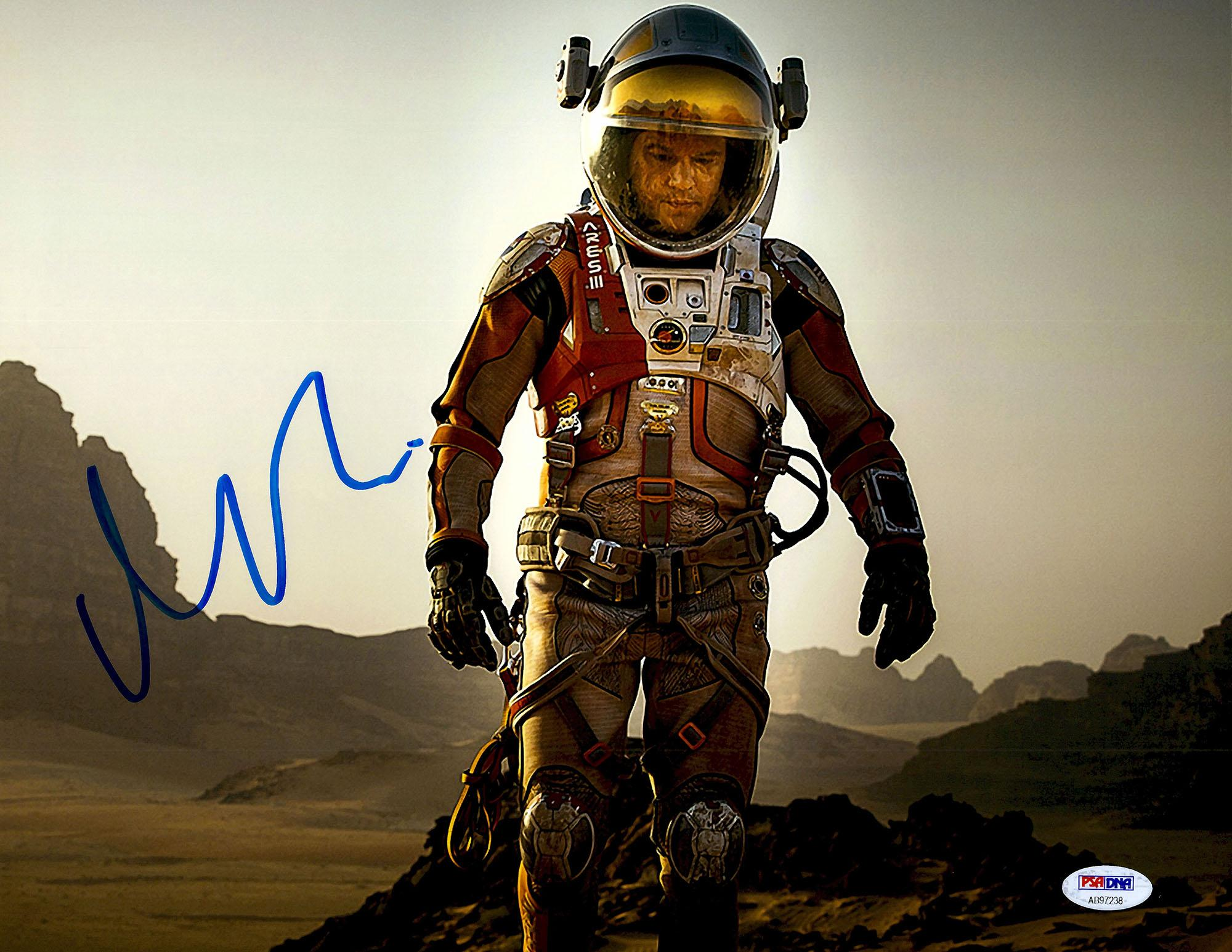 "Matt Damon Autographed 11"" x 14"" Horizontal The Martian Photograph - PSA/DNA"