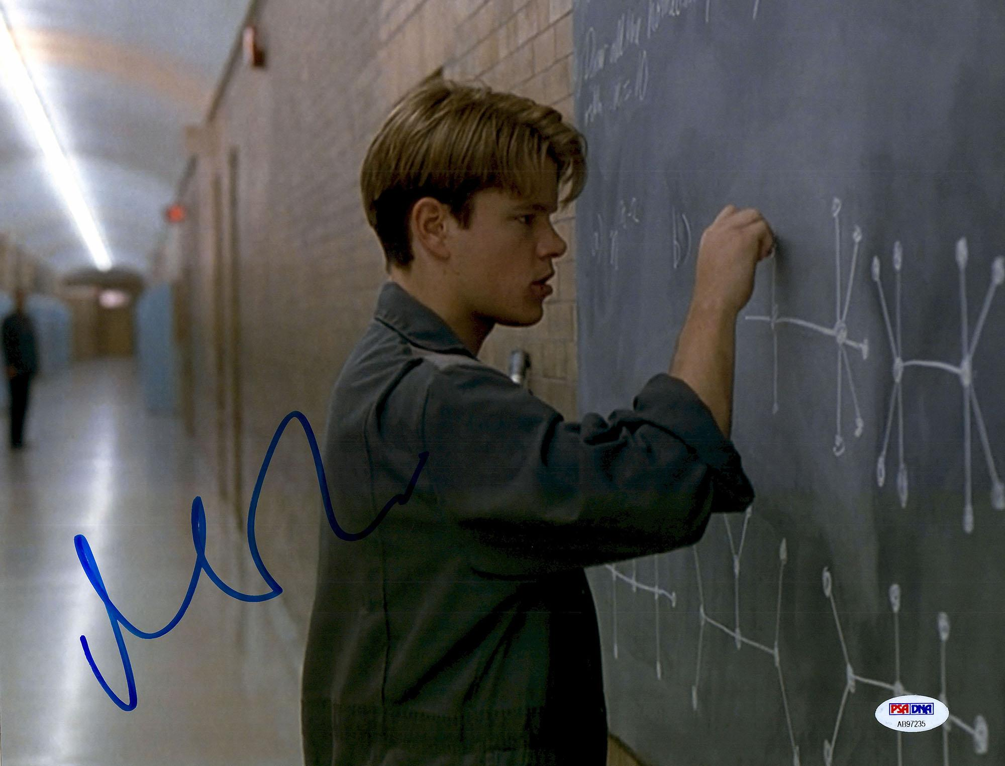 "Matt Damon Autographed 11"" x 14"" Good Will Hunting Photograph - PSA/DNA"