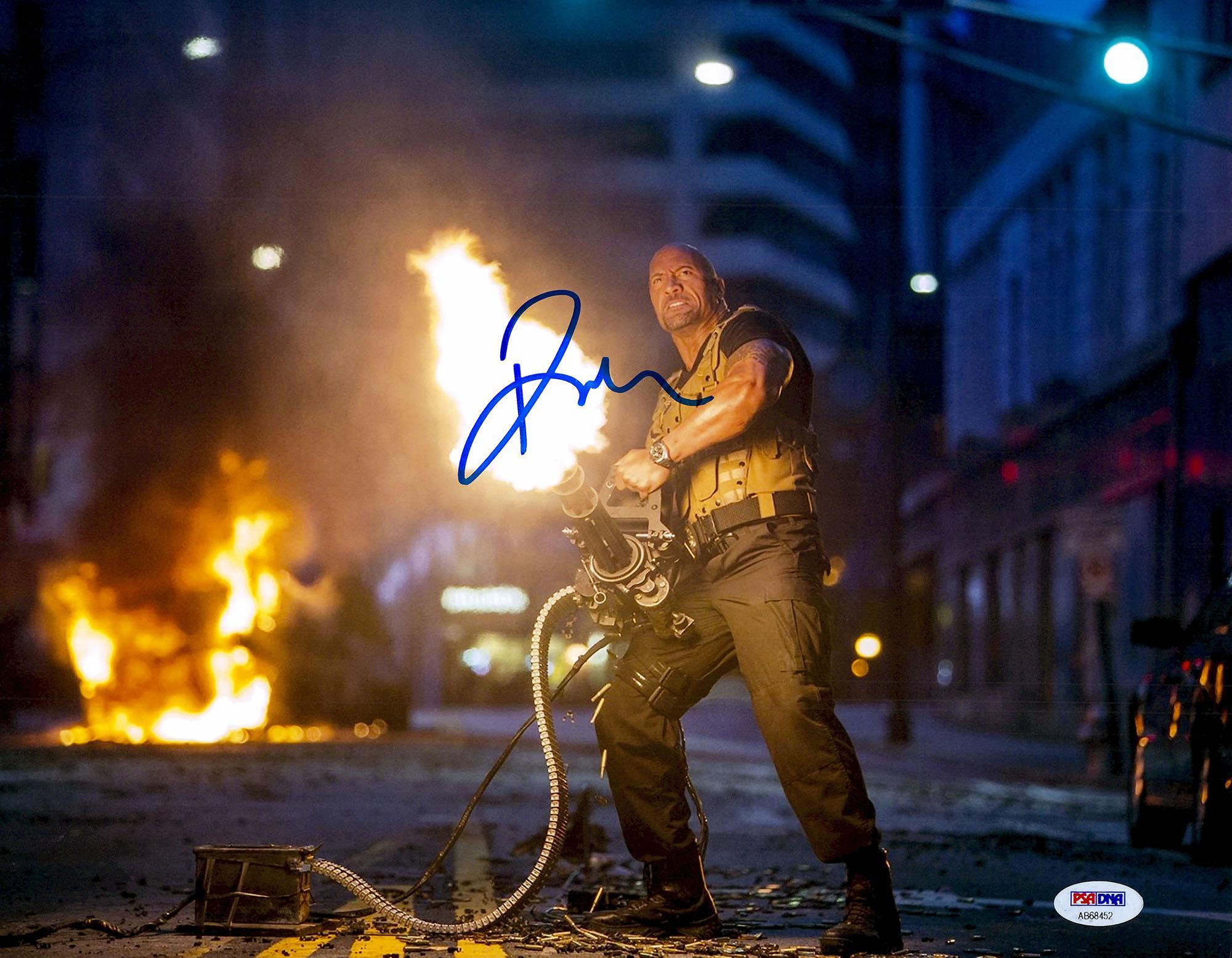 "Dwayne (The Rock) Johnson Autographed 11"" x 14"" Fast & Furious Photograph - PSA/DNA"