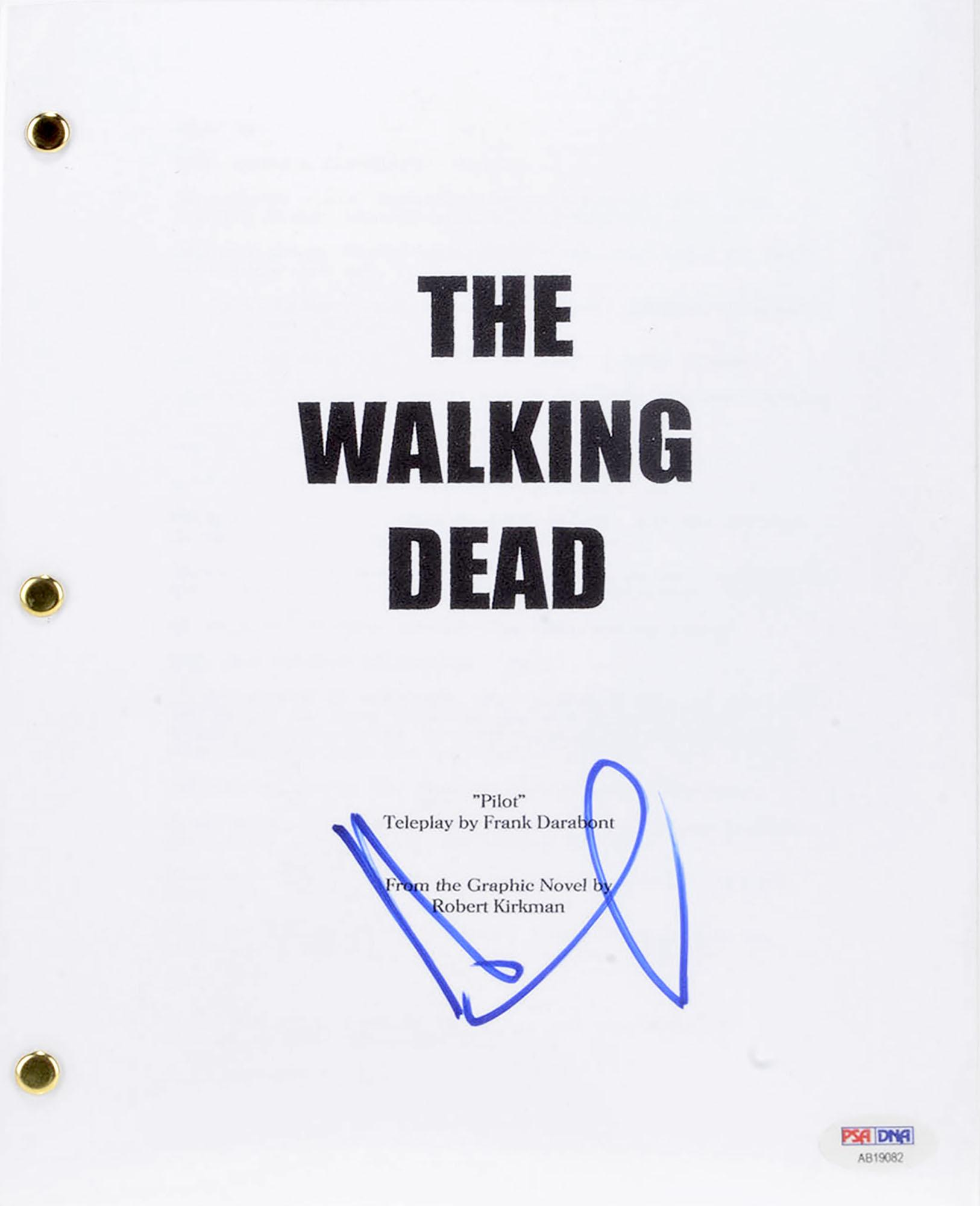 Andrew Lincoln Autographed The Walking Dead Replica Script - PSA/DNA