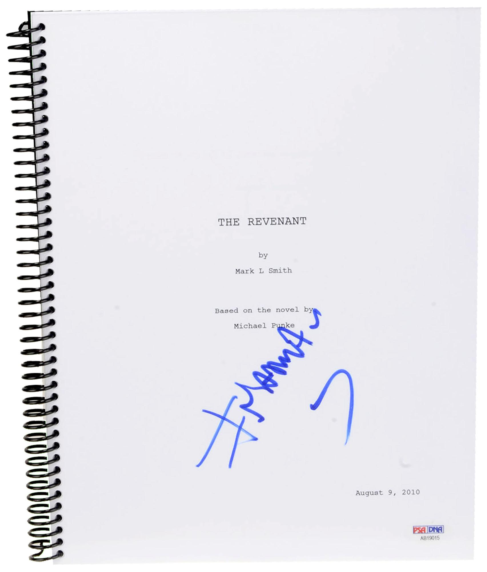 Alejandro Inarritu Autographed The Revenant Replica Movie Script- PSA/DNA