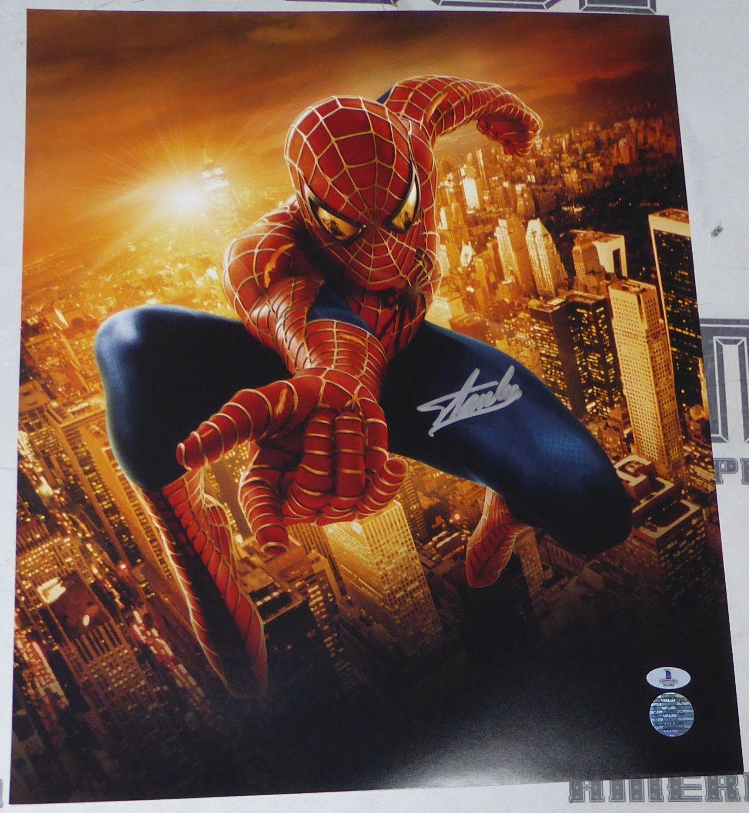Stan Lee Signed 16x20 Photo BAS Beckett COA Marvel Spider-Man Picture Autograph