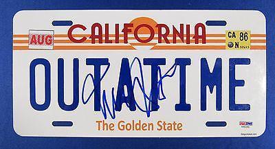 Michael J Fox Signed Auto Autograph California License Plate PSA/DNA AA63205