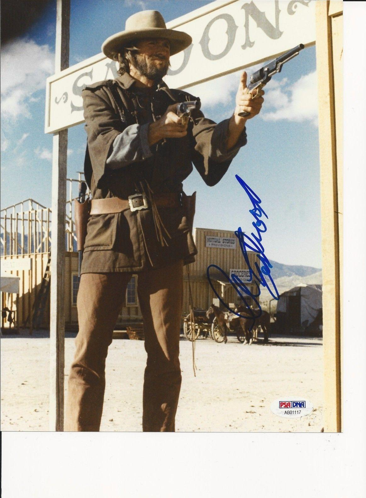 CLINT EASTWOOD Signed 8 x 10 PHOTO with PSA Letter of Authenticity