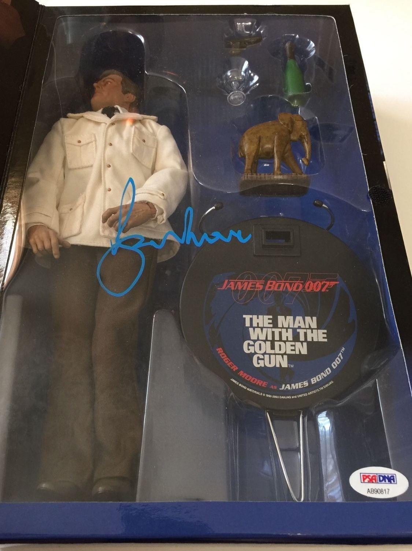 ROGER MOORE Signed JAMES BOND Man With the Golden Gun Sideshow Figure PSA COA