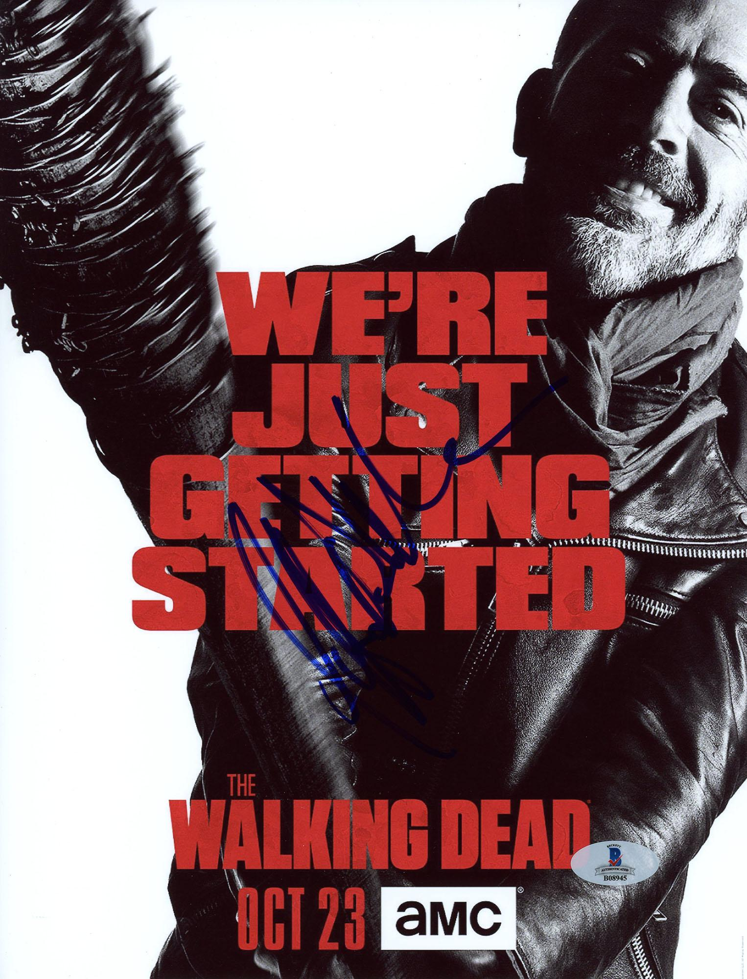 "Jeffrey Morgan Autographed 8"" x 10"" The Walking Dead We're Just Getting Started Photograph - Beckett COA"