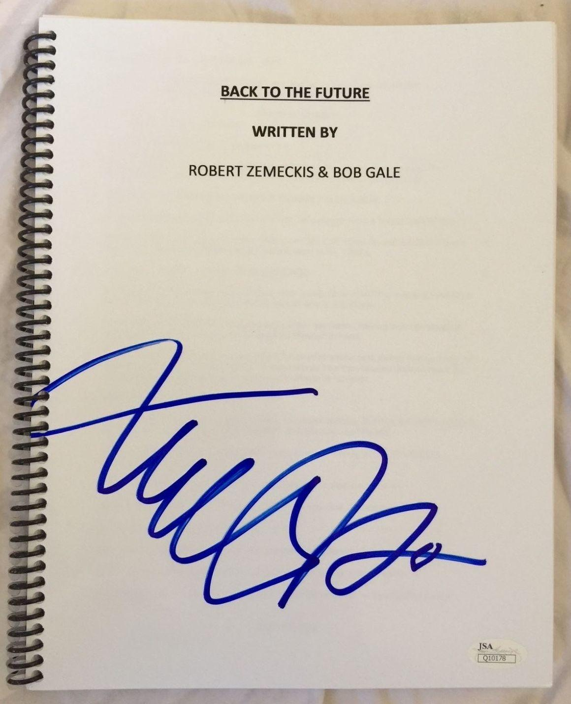 Michael J. Fox Hand Signed Back to the Future Movie Script with JSA COA