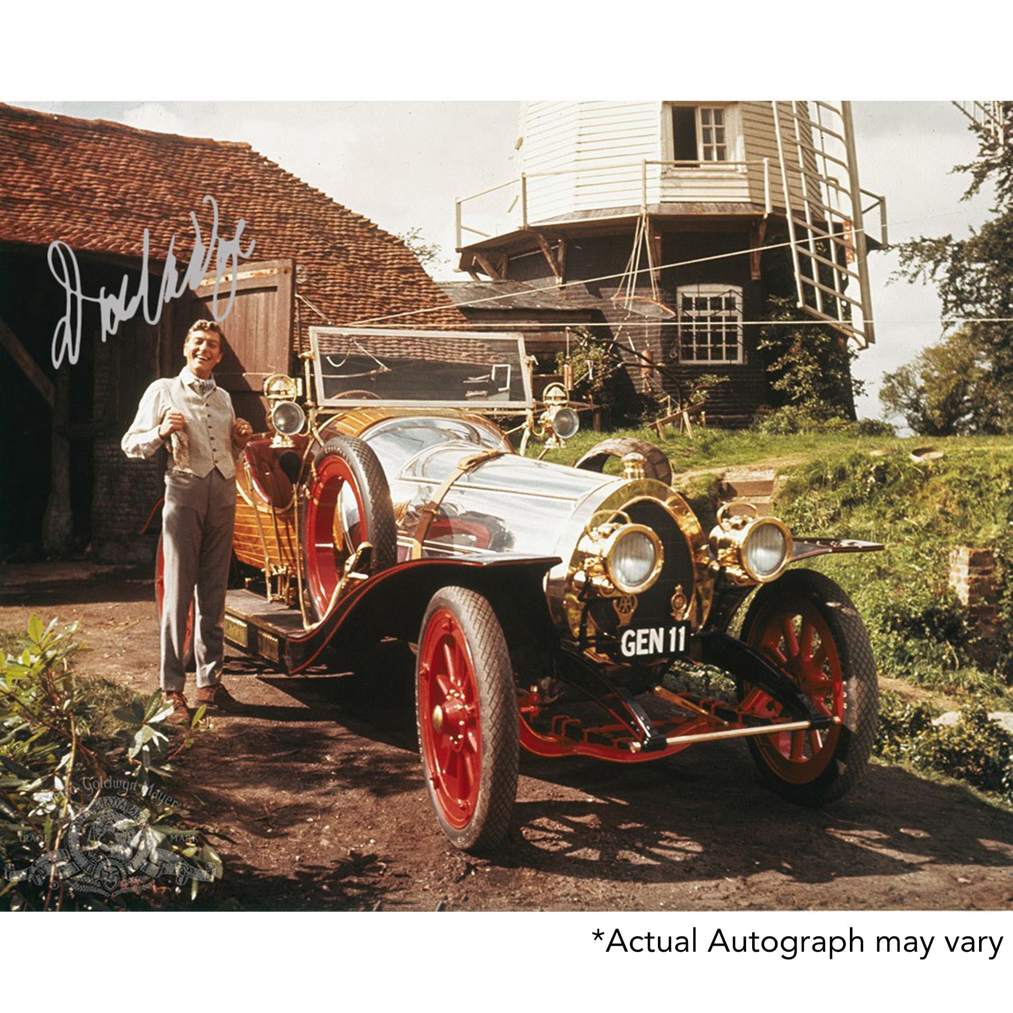 "Dick Van Dyke Autographed 11"" x 14"" Chitty Chitty Bang Bang with Car Photograph - Beckett COA"