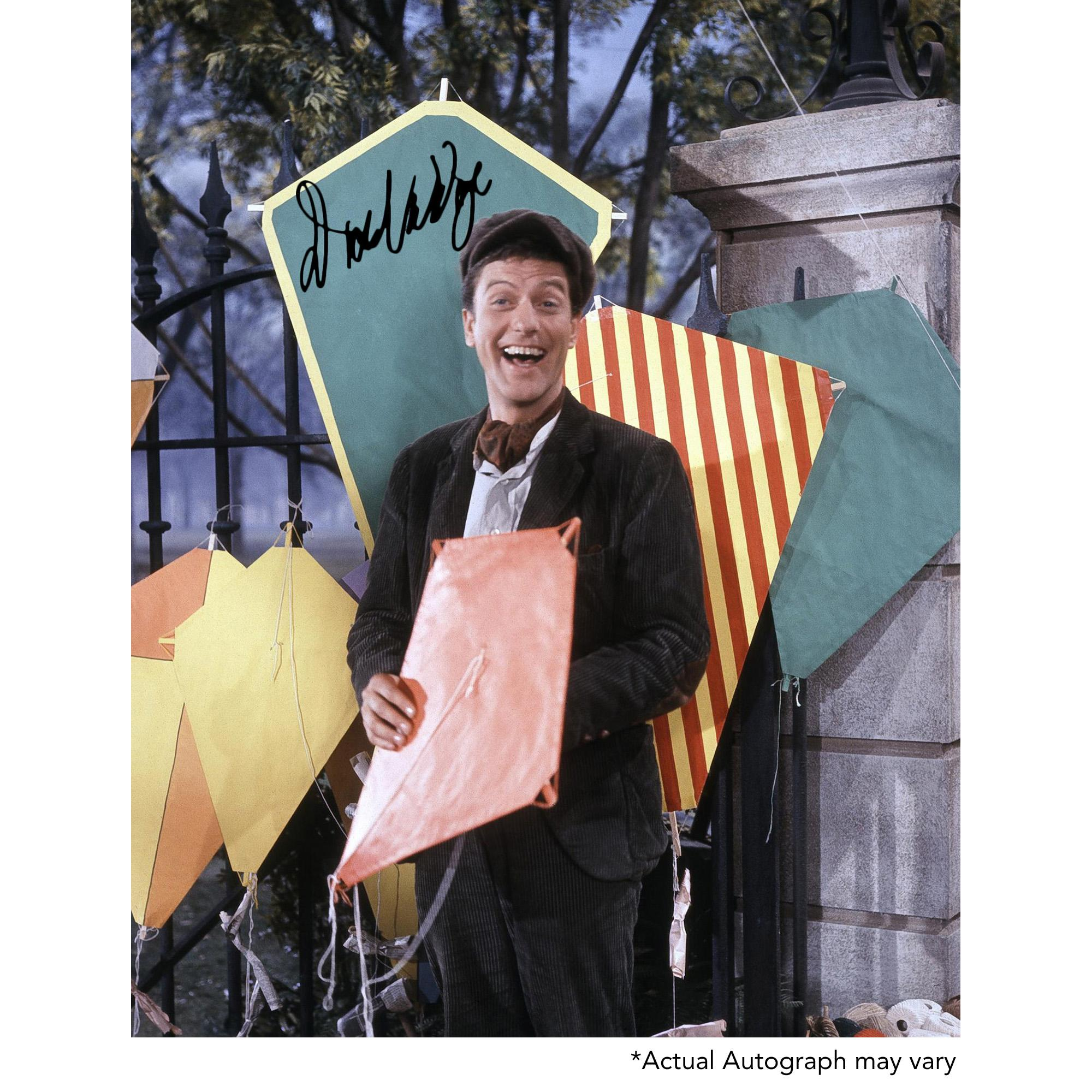 "Dick Van Dyke Autographed 11"" x 14"" Mary Poppins with Kites Photograph - Beckett COA"