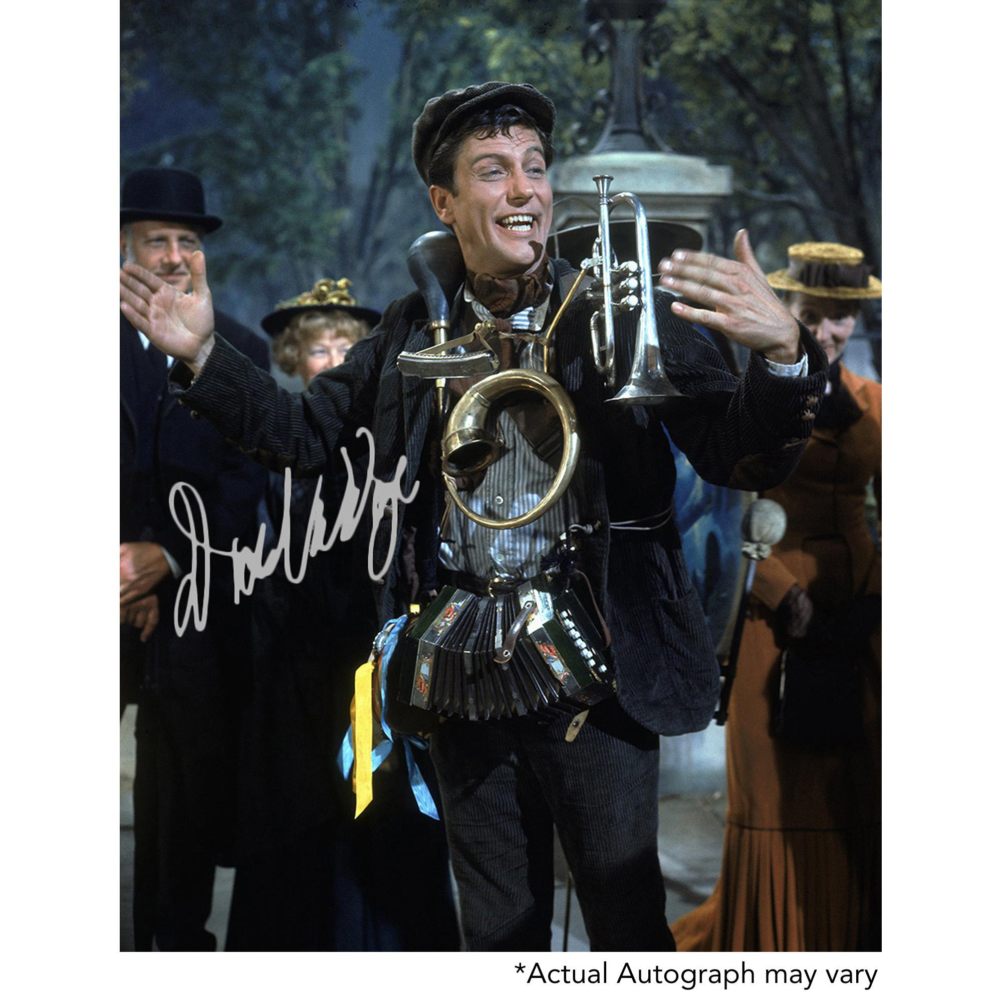 "Dick Van Dyke Autographed 11"" x 14"" Mary Poppins with Instrument Photograph - Beckett COA"
