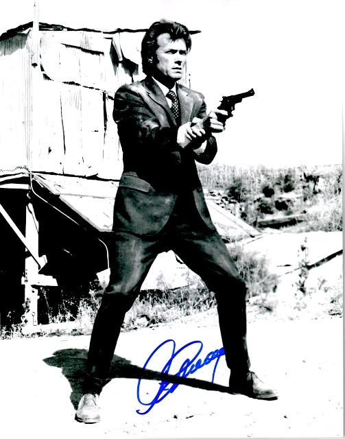 Clint Eastwood Signed - Autographed Dirty Harry 11x14 inch Photo