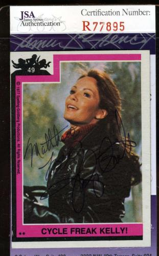 Jaclyn Smith Hand Signed Jsa Topps Charlies Angels Card 49 Autographed Authentic