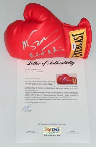 Robert De Niro & Martin Scorsese Raging Bull Signed Boxing Glove Psa Loa Ad03202