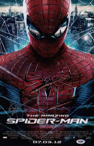 Emma Stone Signed The Amazing Spider-man 11x17 Movie Poster Psa Coa Ad48088