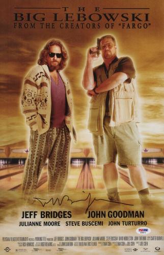 Jeff Bridges Signed The Big Lebowski 11x17 Movie Poster Psa Coa Ad48112