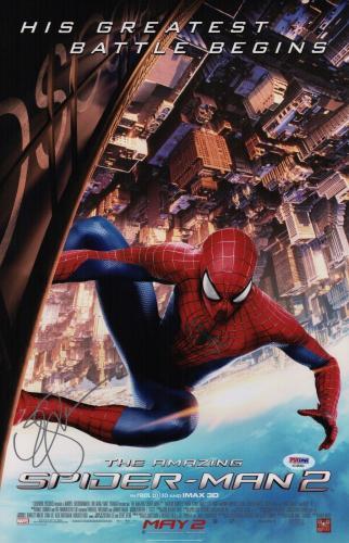 Emma Stone Signed The Amazing Spider-man 2 11x17 Movie Poster Psa Coa Ad48090