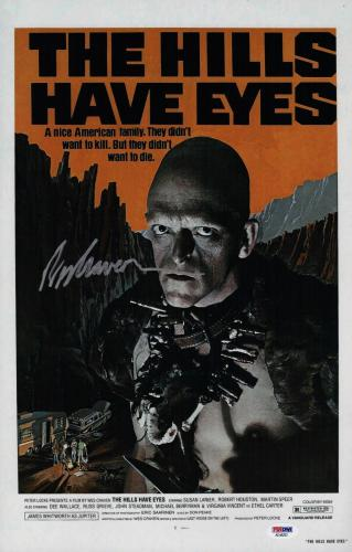 Wes Craven Signed The Hills Have Eyes 11x17 Movie Poster Psa Coa Ad48202