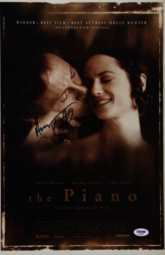 Harvey Keitel Signed The Piano 11x17 Movie Poster Psa Coa Ad48209