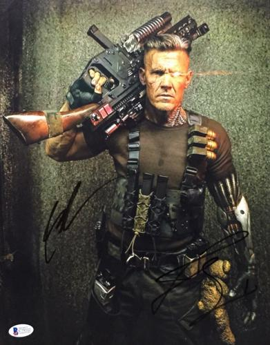Josh Brolin & Rob Liefeld Signed 'Cable' 11x14 Photo *Deadpool Beckett C79222