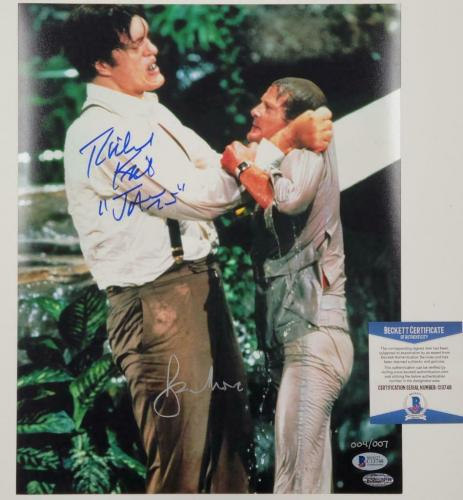 Richard Kiel ROGER MOORE Signed James Bond 11x14 Photo #003/007 Beckett BAS COA