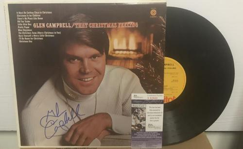 Country Music Album Autographed Rhinestone Fast Color Glen Campbell Signed Lp Coa Proof