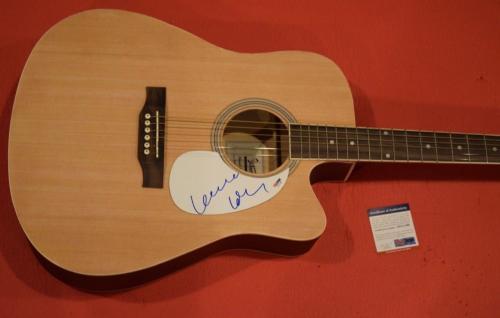 Leonard Cohen Signed Autographed Full Size Acoustic Guitar PSA/DNA COA