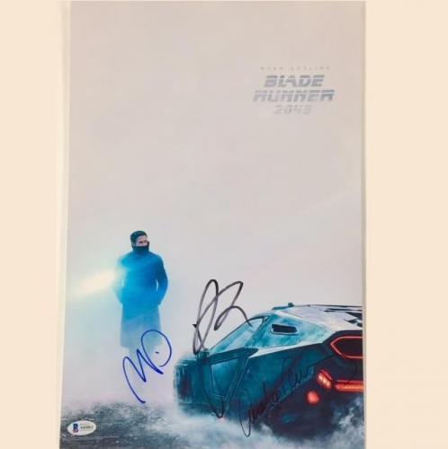BLADE RUNNER 2049 Cast Signed 11x17 Movie Poster Photo w/ Beckett BAS COA LOA