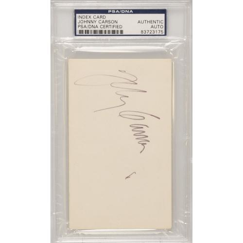 Johnny Carson Autographed Cut Signature - PSA 83723175