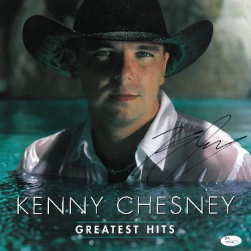 bfd0c018423 Kenny Chesney signed Greatest Hits Album Flat LP 12x12 (2000 BNA Records)-  JSA Hologram  Q59949