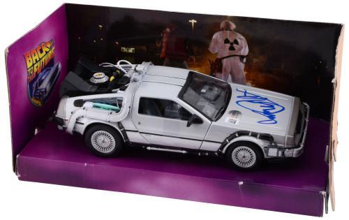 Michael J. Fox Autographed Back to The Future Delorean 1:24 Die Cast Car - PSA