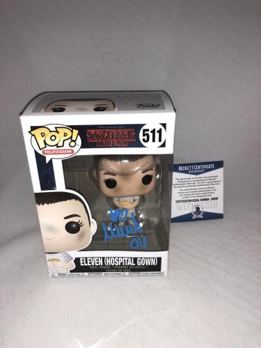 Millie Bobby Brown Signed Eleven Hospital Gown Stranger Things Funko Pop Bas 2