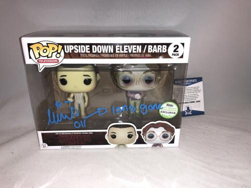 Millie Bobby Brown Signed Upside Down Eleven Barb Stranger Things Funko Pop Bas