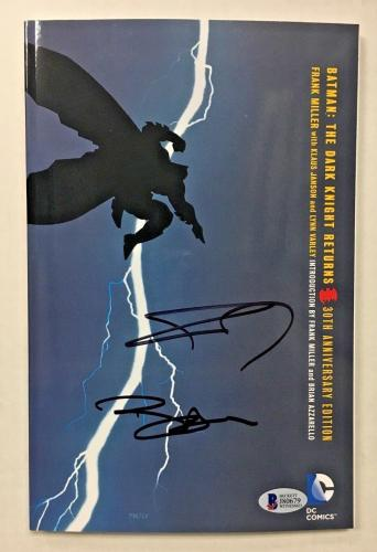 BEN AFFLECK FRANK MILLER SIGNED BATMAN 30TH ANNIVERSARY COMIC BOOK BAS COA Auto