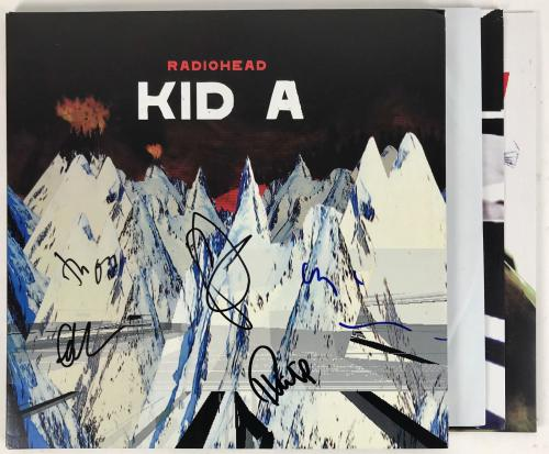 Radiohead Group Signed Autographed Kid A Record Album Thom Yorke Jsa Coa Z25048