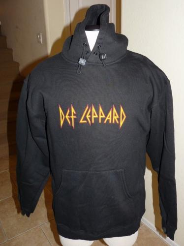 Def Leppard REAL Crew Tour Issued Pullover Sweatshirt Jacket Raised Rubber