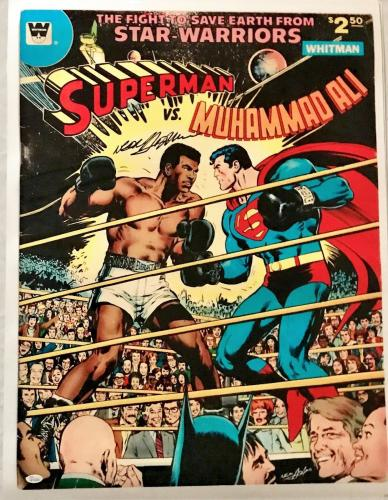 Neil Adams Signed Autographed Ali vs Superman Poster 24x32 JSA Authentic W704689