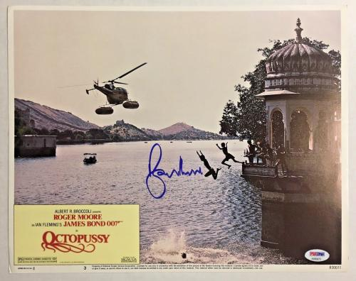 ROGER MOORE Signed JAMES BOND 007 OCTOPUSSY Original Lobby Card PSA/DNA COA F